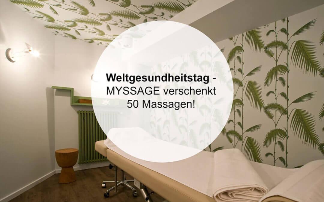 Weltgesundheitstag: MYSSAGE verschenkt 50 Massagen und nennt Dir gute Gründe, es zu nutzen